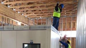 Building interior under construction